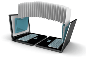 File transfer between laptops collecting evidence